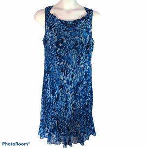 Evan Picone blue sheath dress sleeveless size 16